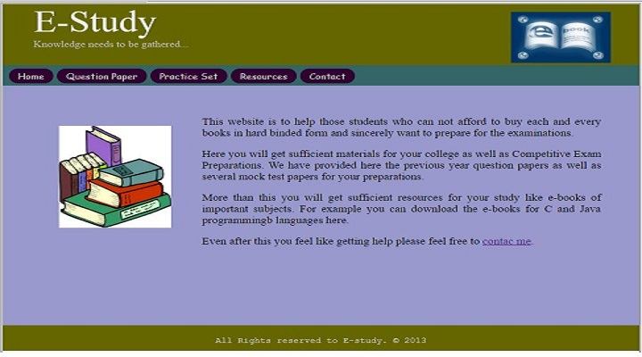 E-Study (An Online Education System Website)